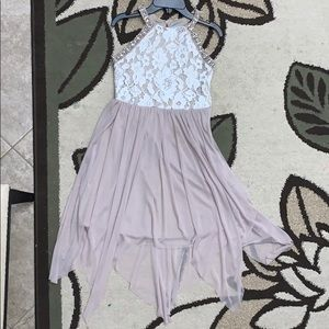TWEEN DIVA Taupe Beige Ivory Lace Dress Girls Sz14